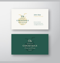coconut exotic cocktails bar abstract elegant vector image