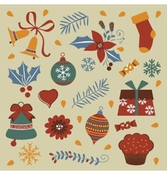 Colorful Christmas collection vector