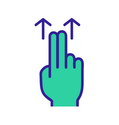 Control on touchscreen icon isolated vector