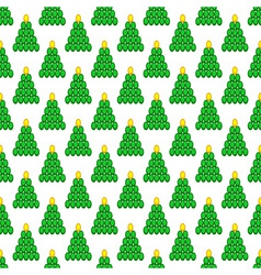 Cristmas tree pattern vector image