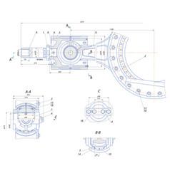 Crosshead displacement pump mechanism vector