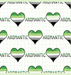 cute aromantic heart with text cartoon seamless vector image