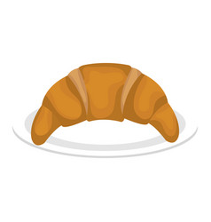 Delicious croissant isolated icon vector