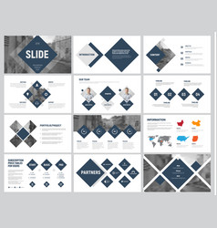 Design of white and black minimalistic slides for vector