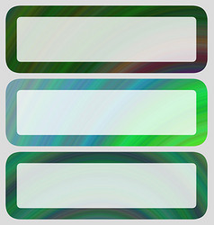 Digital art rounded banner set in green tones vector