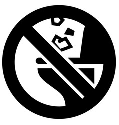 Do not throw trash or paper towels in toilet vector