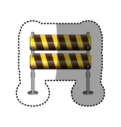 Dotted sticker pair street traffic barrier vector