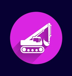 Excavator icon button logo symbol concept vector