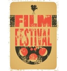 Film festival retro typographical poster vector