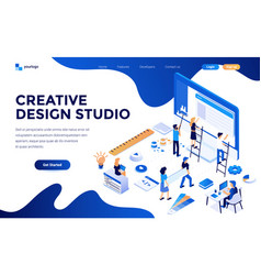 flat color modern isometric concept - creative vector image