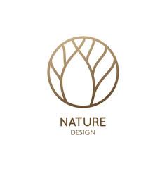 Garden round emblem vector