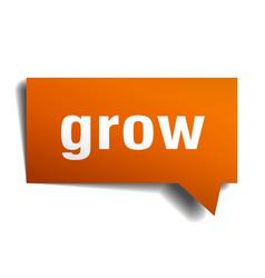 grow orange 3d speech bubble vector image