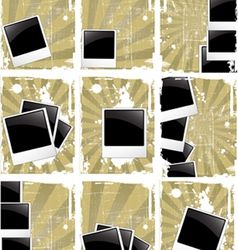 grunge style photo frames vector image