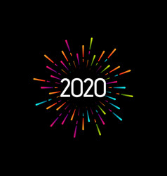 Happy new 2020 year vector