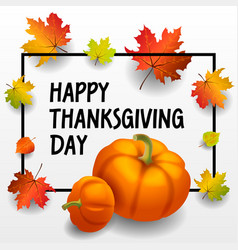 happy thanksgiving day concept background vector image