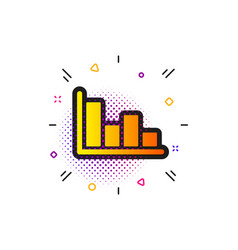 Histogram chart icon financial graph vector