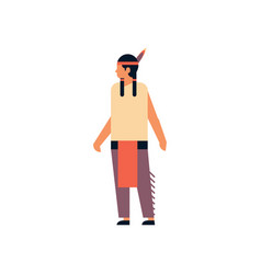 indian man thanksgiving day concept guy wearing vector image