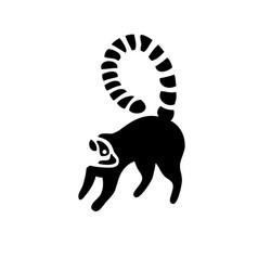 lemur silhouette logo vector image