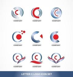 Letter C logo icon set vector
