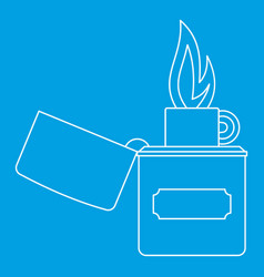 Lighter icon outline style vector