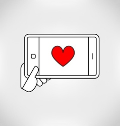 Love mobile vector