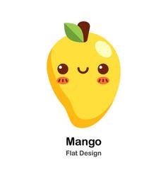 Mango flat icon vector