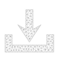 mesh downloads icon vector image