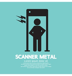 Metal Scanner Gate vector