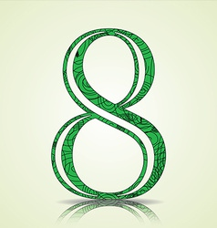 Number of Collection made of swirls - 8 vector image