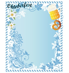 Oktoberfest party background vector