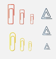 Paper Clip Multi Colored and different form vector