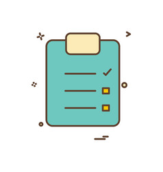 paper list icon design vector image