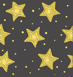 pattern with hand-drawn stars vector image