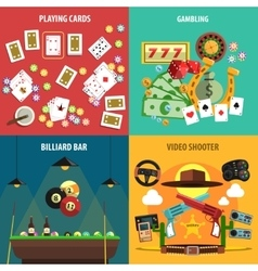 Playing Games Banners Set vector image