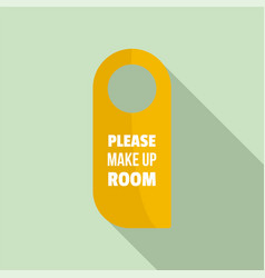please make up room hanger tag icon flat style vector image