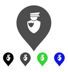 policeman marker flat icon vector image