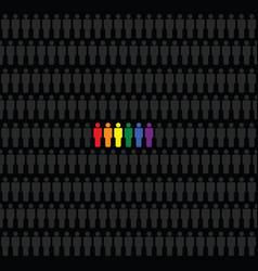 rainbow figures icon set vector image