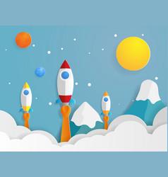rocket launcher startups vector image