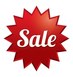 Sale tag Red sticker Icon for special offer vector image