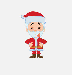 santa claus in waiting attitude with funny vector image