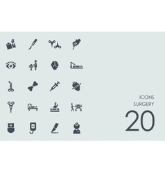 Set of surgery icons vector image