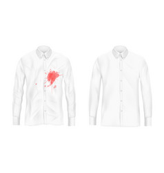 shirt stain remover experiment concept vector image
