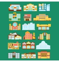 Shopping Mall Department Store And Supermarket vector