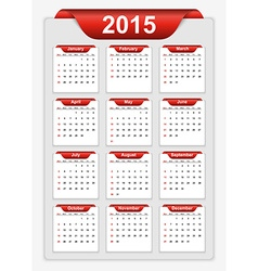 Simple calendar 2015 year vector