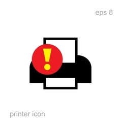 Simple Printer Error Icon vector image