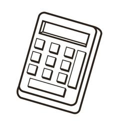 single calculator icon vector image