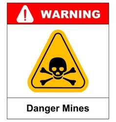 skull danger sign vector image