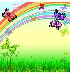 spring vivid frame vector image
