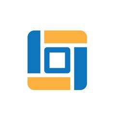 Square business icon logo vector