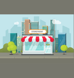 storefront in city store vector image